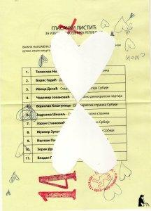 Glasački listić broj 14