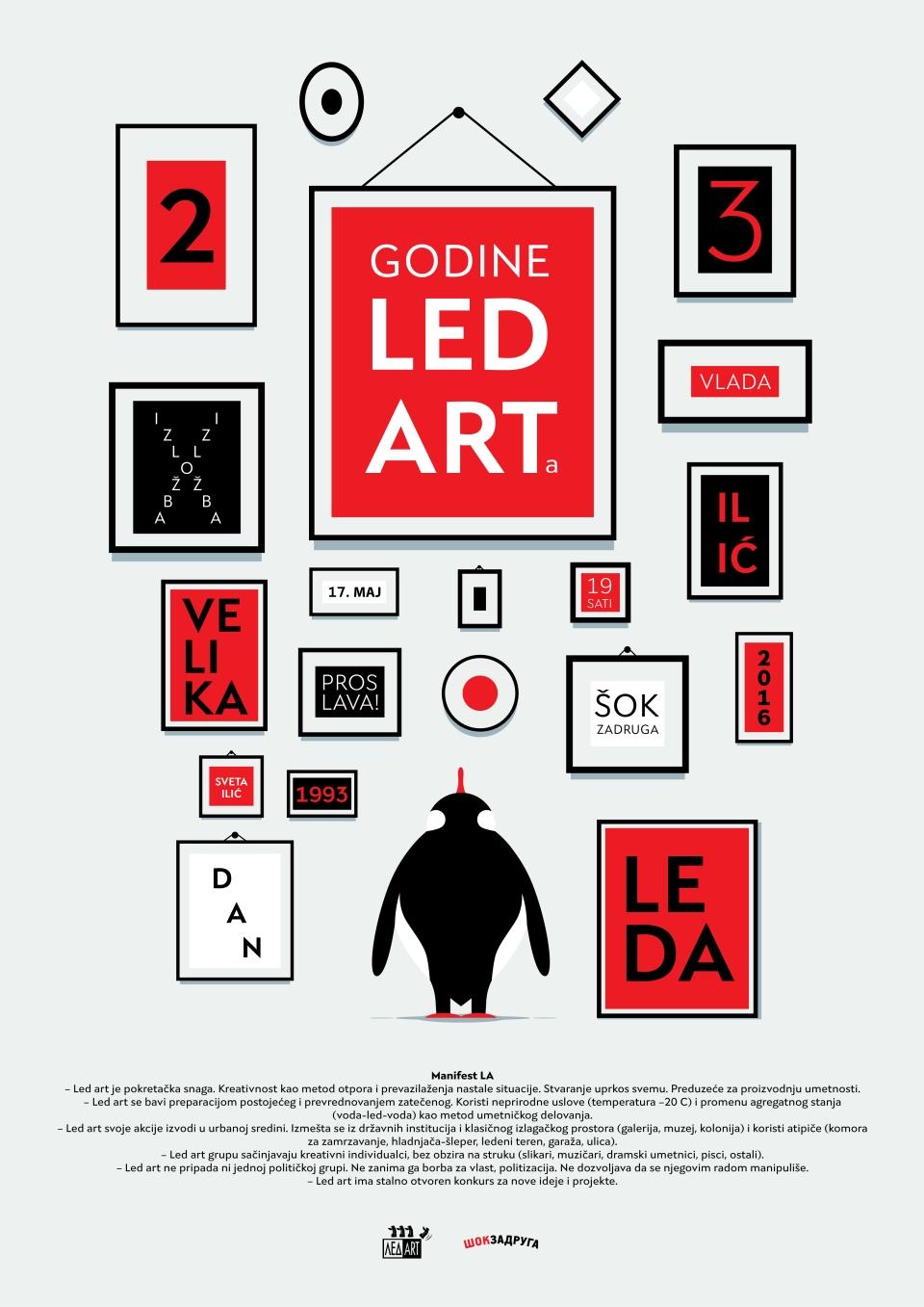 plakat_23_GODINE_LED_ARTa